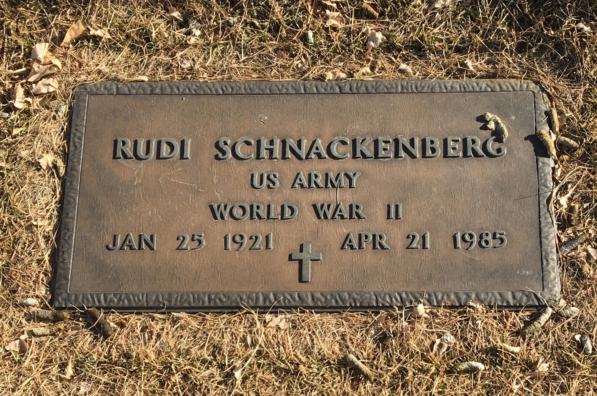 Sgt Rudolf Ernst Schnackenberg (1921-1958) - Find A Grave Memorial
