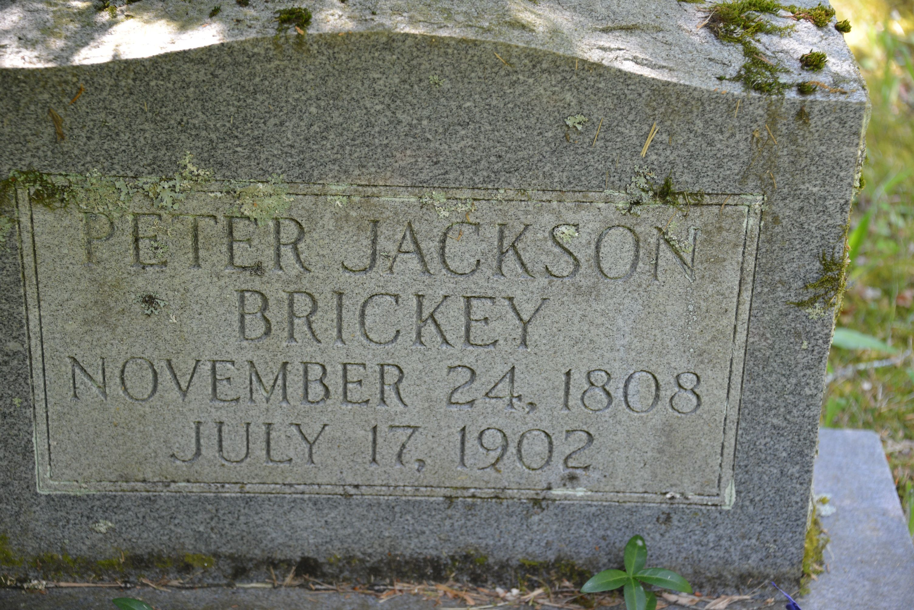 Peter Jackson Brickey (1808-1902) - Find A Grave Memorial