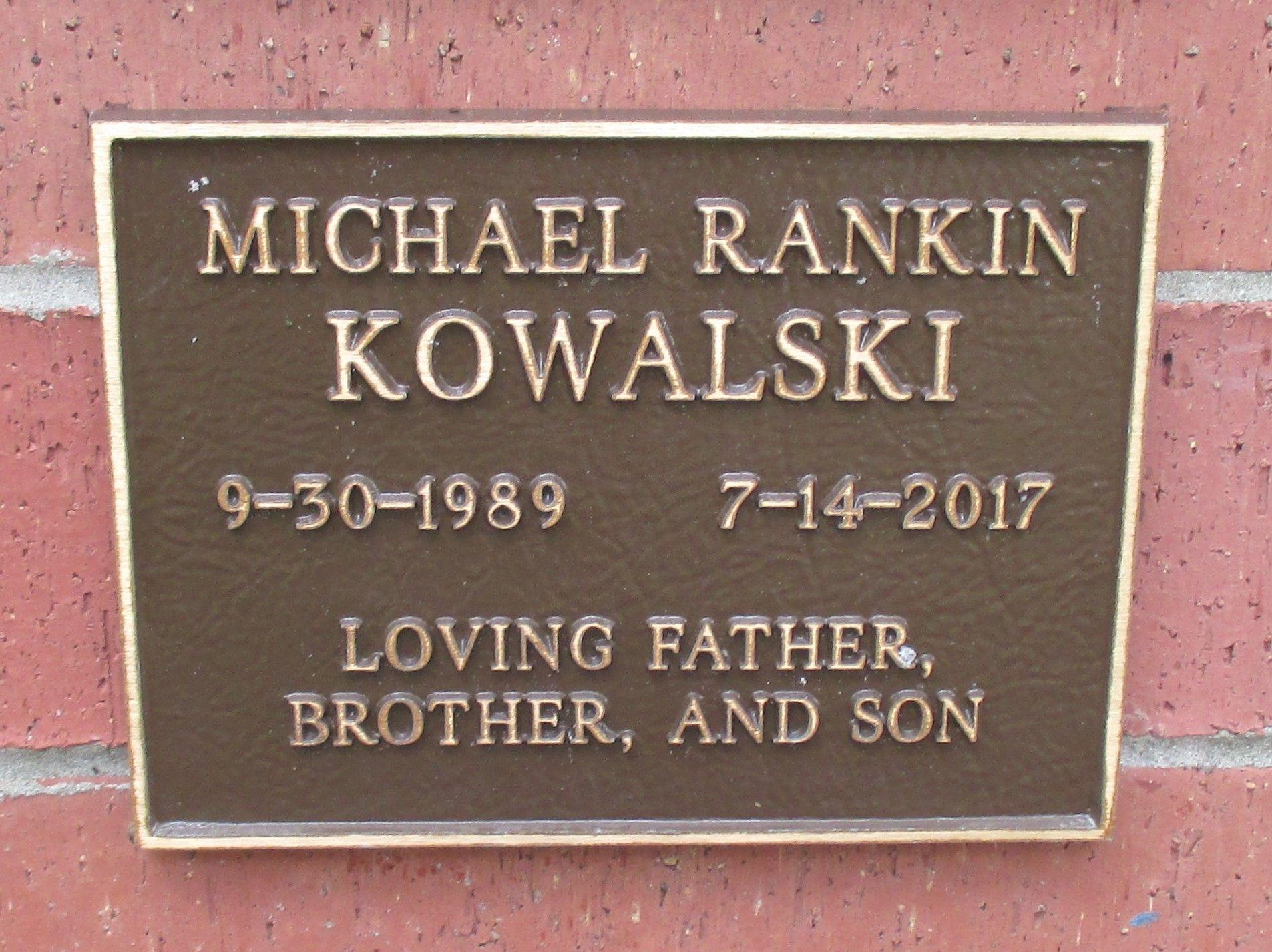 Michael Rankin Kowalski (1989-2017) - Find A Grave Memorial