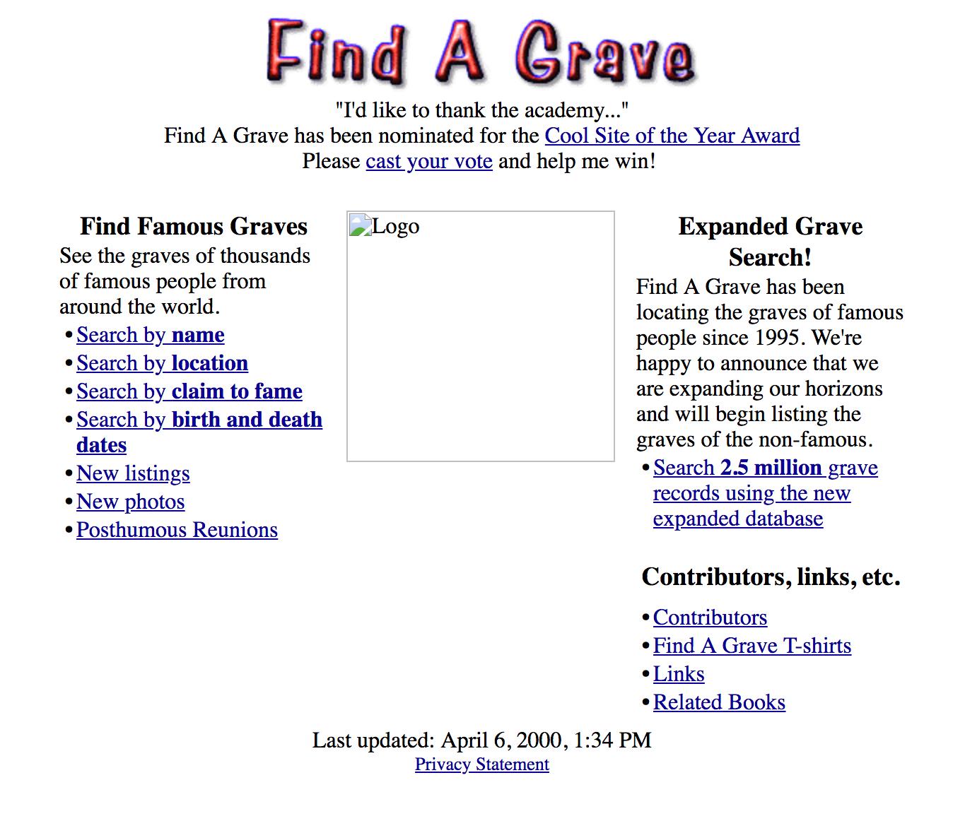 Original Find A Grave (1995-2018) - Find A Grave Memorial