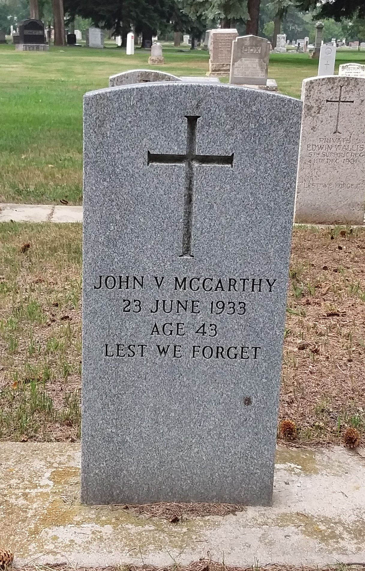 John V  Mccarthy (Unknown-1933) - Find A Grave Memorial