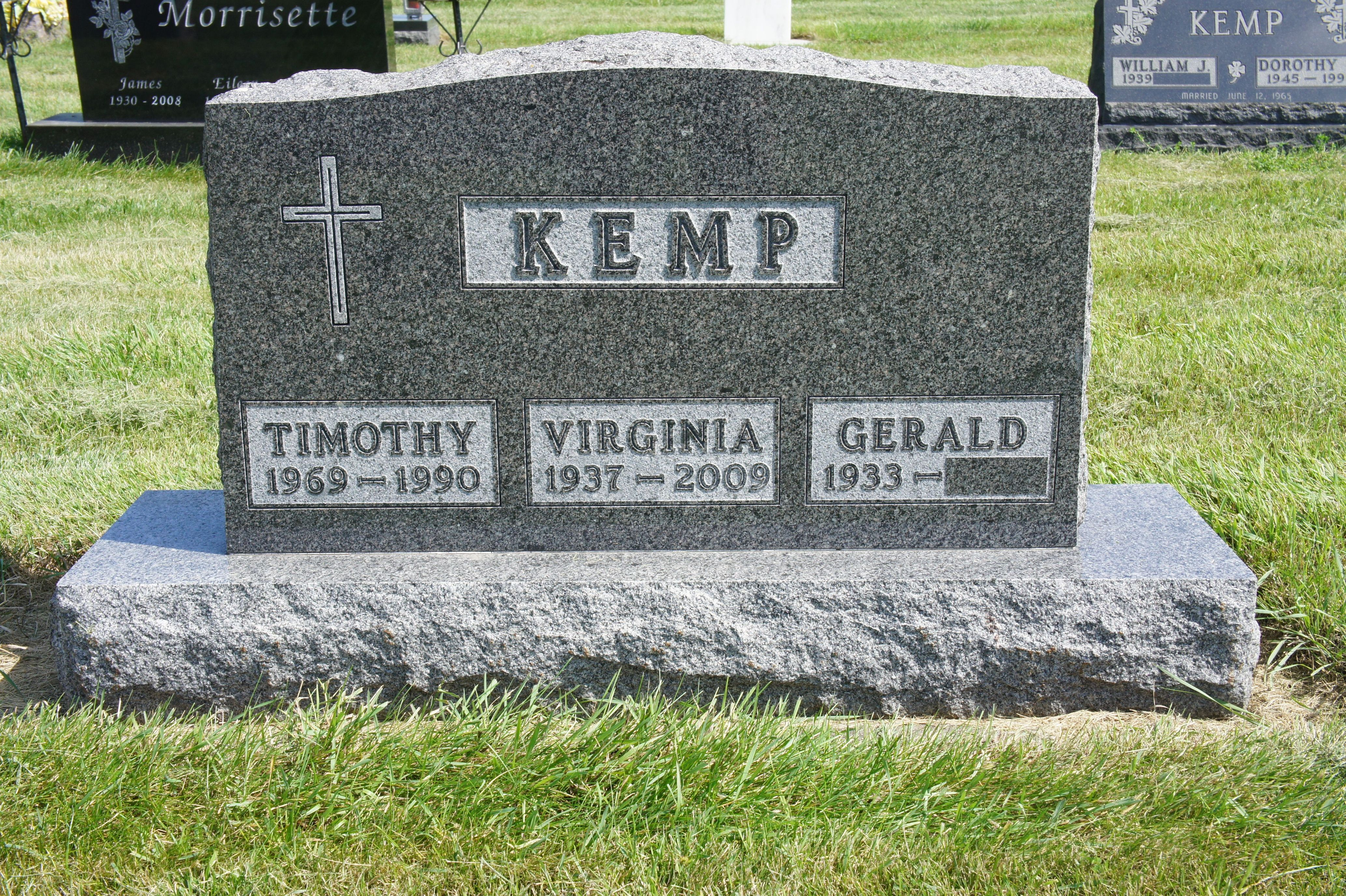 Virginia Ginger Kemp 1937 2009 Find A Grave Memorial