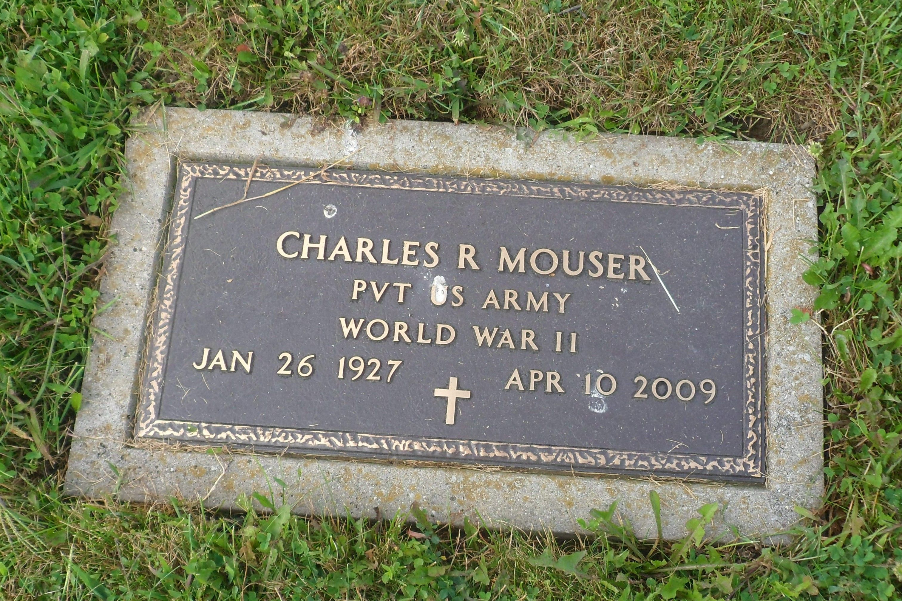 """Charles R  """"Chuck"""" Mouser (1927-2009) - Find A Grave Memorial"""