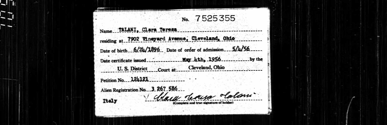 Clara Teresa Mentessi Talani 1896 1972 Find A Grave Memorial