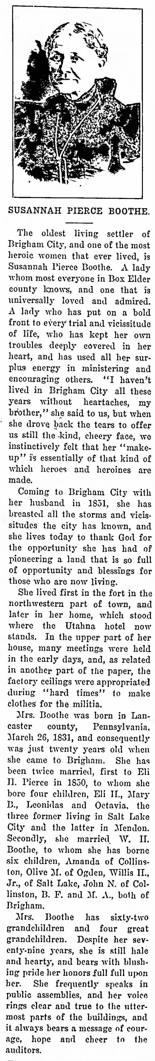 Susannah Neff Pierce Boothe (1831-1910) - Find A Grave Memorial