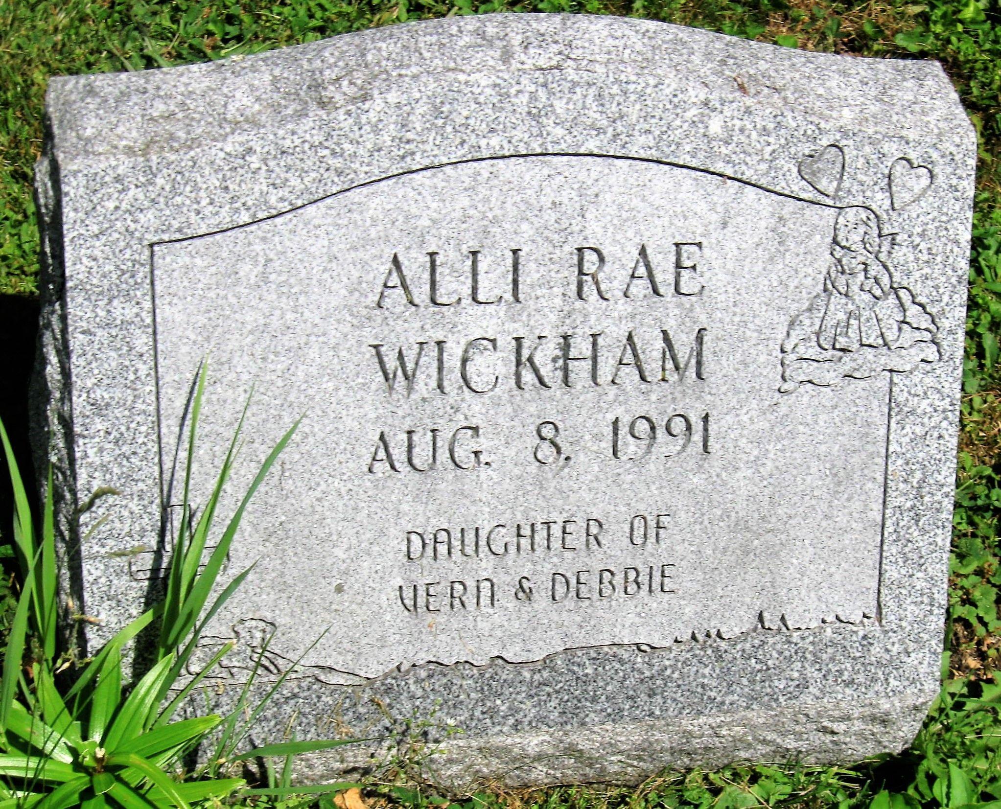 Alli Rae Photos alli rae wickham (unknown-1991) - find a grave memorial