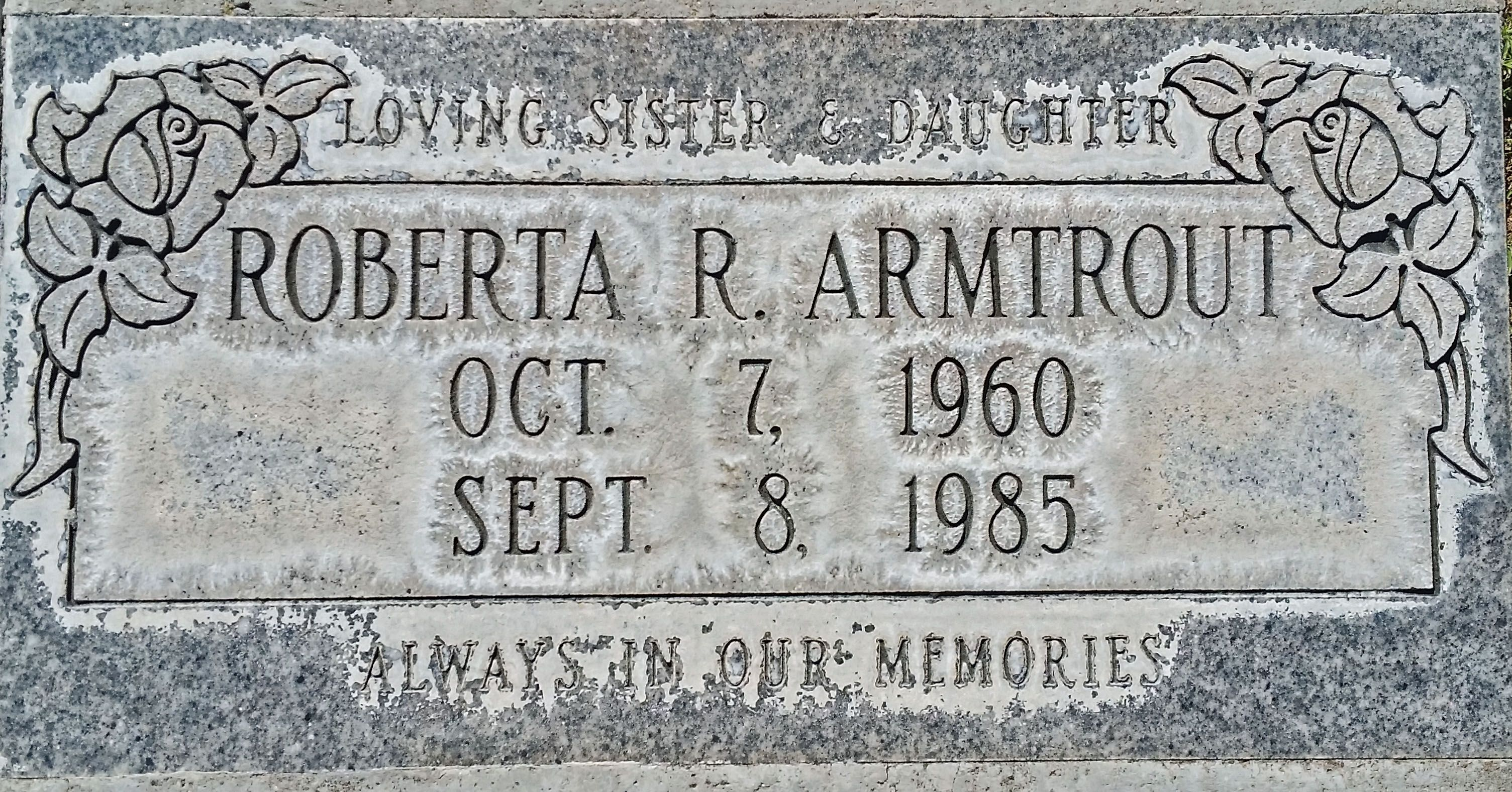 """Roberta Ray """"Robin"""" Jones Armtrout (1960-1985) - Find A"""