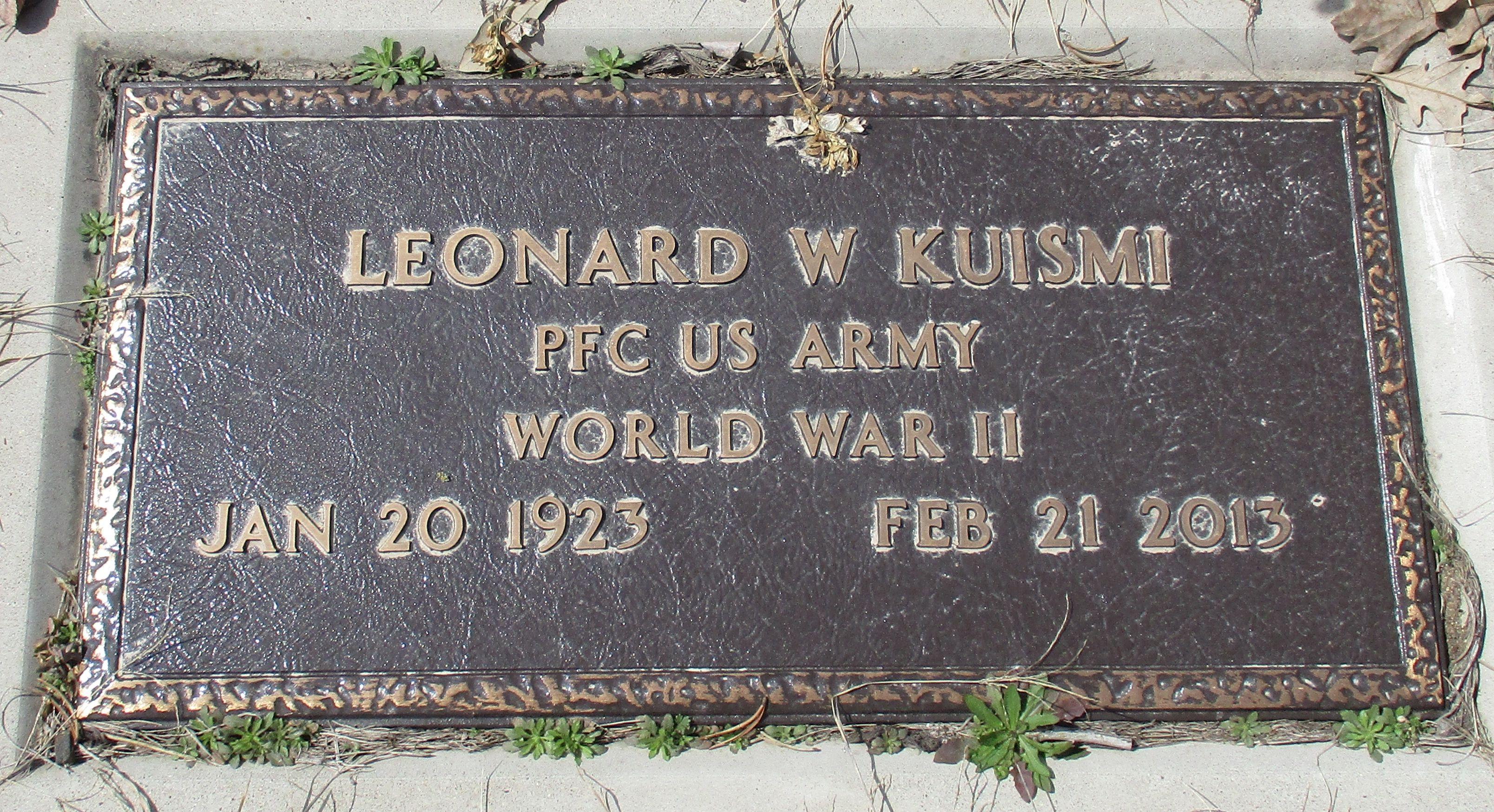 Leonard Kuismi 1923 2013 Find A Grave Memorial