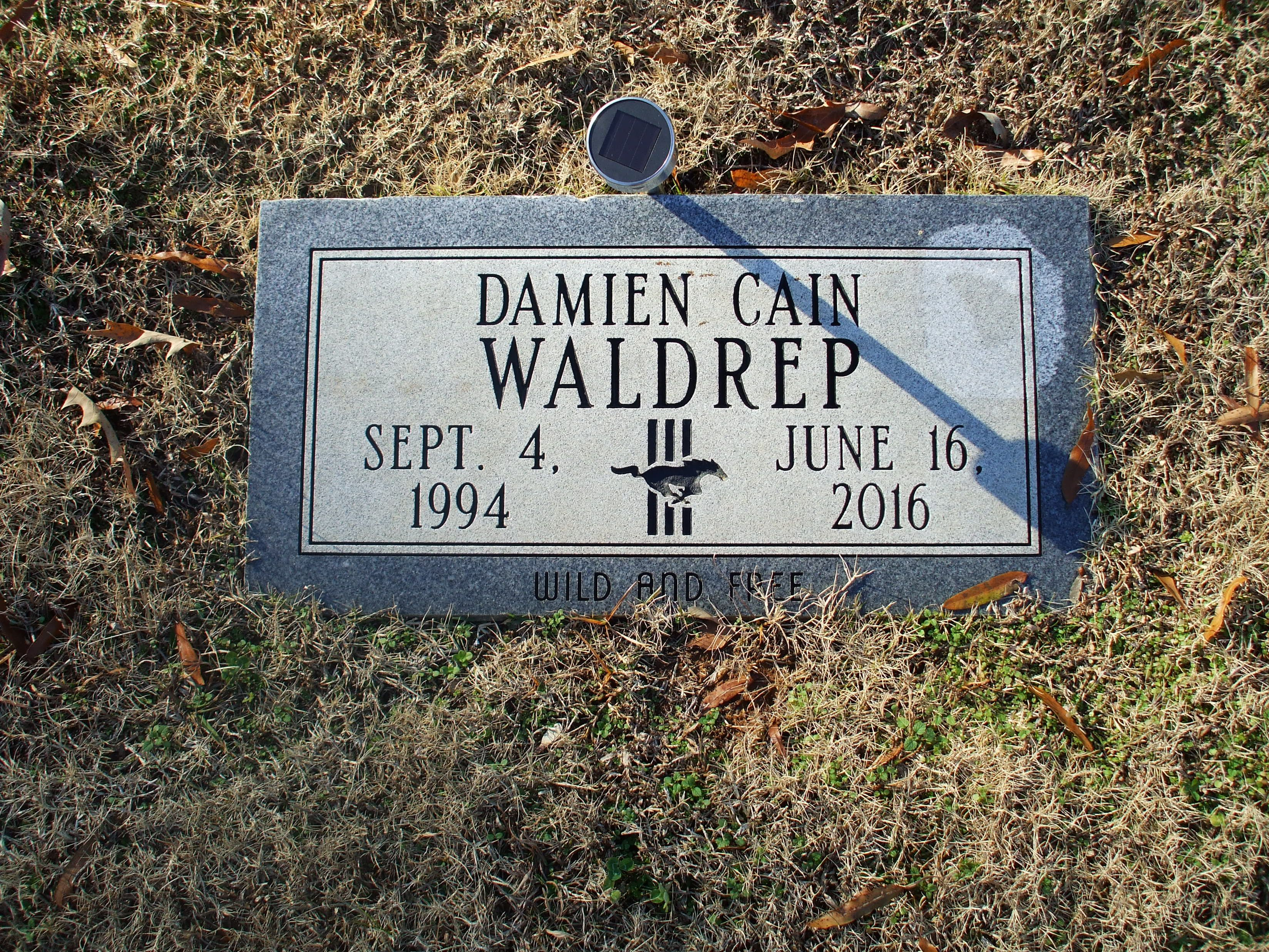 Damien Cain D Waldrep 1994 2016 Find A Grave Memorial