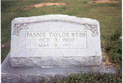 Fannie Bell <I>Taylor</I> Webb