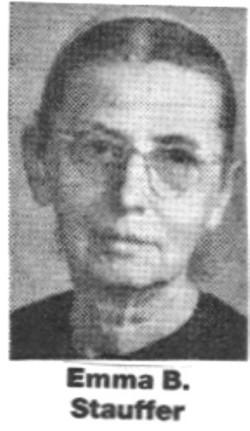 Emma B. <I>Snyder</I> Stauffer