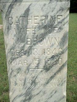 Catherine <I>Lane</I> Brown