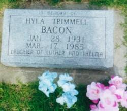 Hyla Claudine <I>Trimmell</I> Bacon