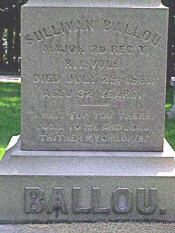 Sullivan Ballou 1829 1861 Find A Grave Memorial