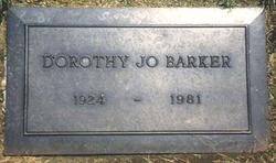 Dorothy Jo <I>Gideon</I> Barker