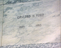 """Gaylord H. """"Snappy"""" Ford"""