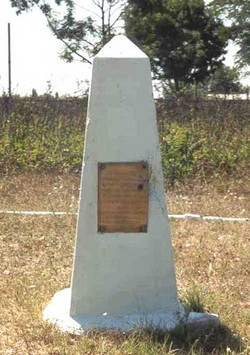 French Cemetery marker
