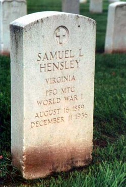 Samuel Lawrence Hensley 1889 1956 Find A Grave Memorial