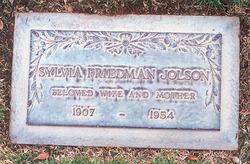 Sylvia Jeanne <I>Friedman</I> Jolson