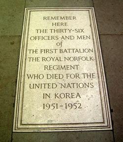 Norfolk Regiment Korea Memorial