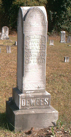 Sarah <I>Mitchell</I> Dewees