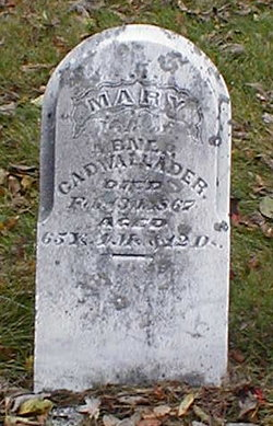 Mary <I>Thomas</I> Cadwallader