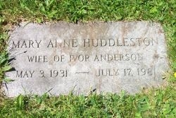Mary Anne <I>Huddleston</I> Anderson