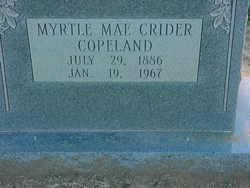 Myrtle Mae <I>Crider</I> Copeland