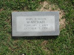 Mary Lucille <I>Robison</I> McMichael