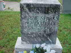Merzie A <I>Byers</I> Sparks