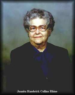 Juanita Elizabeth <I>Hambrick</I> Collins Rhine
