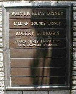 Walt Disney Gravestone