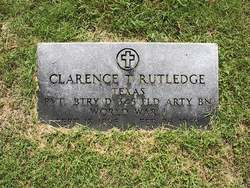 Pvt Clarence T. Rutledge