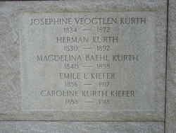 Caroline <I>Kurth</I> Kiefer