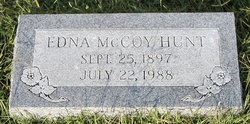 Edna <I>McCoy</I> Hunt