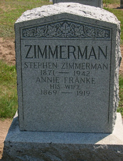 Annie <I>Franke</I> Zimmerman