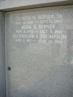 Clothilda Virginia Mary <I>Berner</I> Thompson