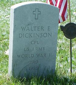 Walter E Dickinson