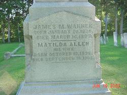 Matilda Elizabeth <I>Allen</I> Warner