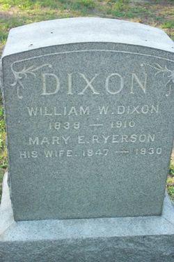 Mary Elizabeth <I>Ryerson</I> Dixon