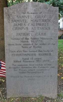 Boston Massacre Victims (Unknown-1770) - Find A Grave Memorial
