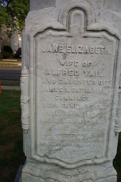 Jane Elizabeth <I>Cummings</I> Vail