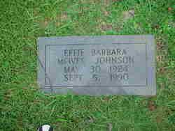 Effie Barbara <I>McIver</I> Johnson