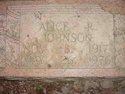 Alice <I>Ramsey</I> Johnson