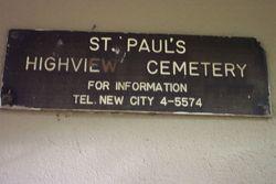 Saint Pauls Highview Cemetery