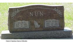 Mary Velma <I>Yates</I> Nun