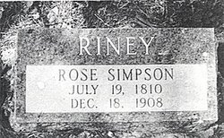 Rose A <I>Simpson</I> Riney