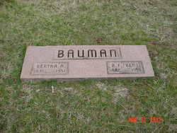 Bertha A <I>Henthorn</I> Bauman