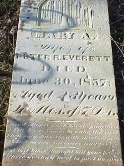 Mary Ann <I>Derton</I> Everett