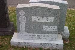 Mary Ann <I>McCormick</I> Evers